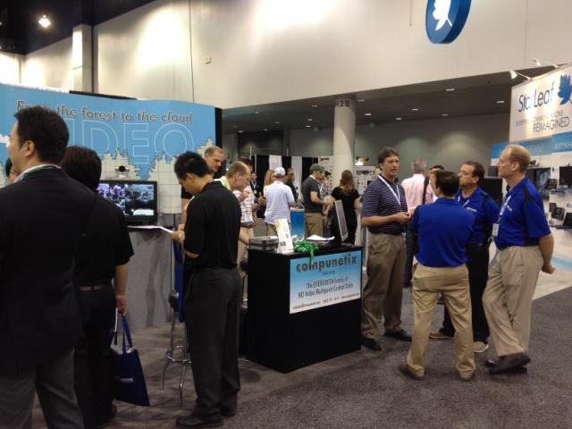 Visitors at our InfoComm booth