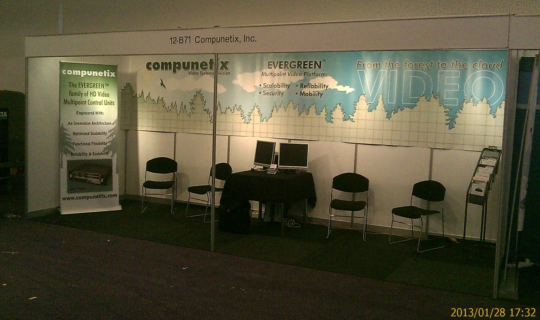 The Compunetix Booth at ISE 2013