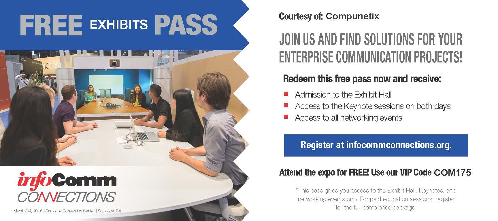 InfoComm Connections_San Jose_VIP PASS_COMPUNETIX2