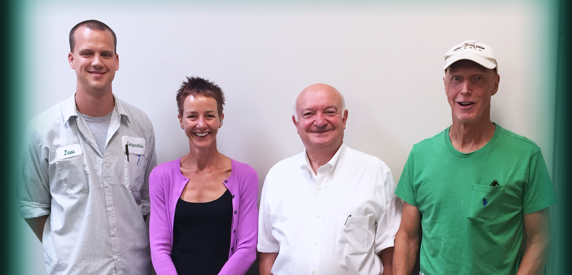 Dr. Joe Hill-Kittle (second from left) and the Compunetics Team