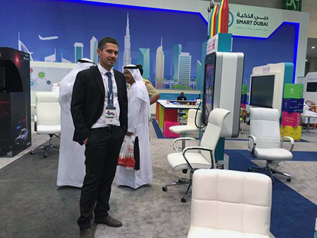 Antonio Copodieci at GITEX with Compunetix