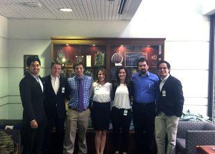 Pitt Students in Compunetix Lobby