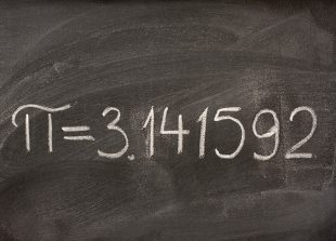Pi on Chalkboard